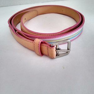 Coach Multi Colored Striped Belt